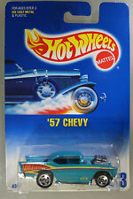 Hot Wheels 1:64 Scale 1992 Series '57 CHEVY (TEAL 5 SPOKES)