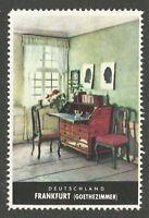 Frankfurt, Germany, German Tourism, Poster Stamp, Cinderella Label, N.H.