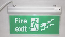 CLEAR LED Maintained Non Maintained Emergency Lighting Exit Sign Bulkhead Light