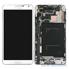 White LCD Touch Screen Digitizer + Frame for Samsung Galaxy Note 3 N900P Sprint