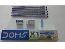 100x Doms X1 X-tra Super Dark Pencils   10 Doms Sharpener + 10 Doms Eraser  Free