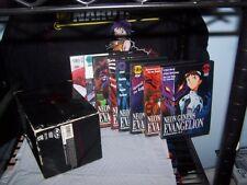 Neon Genesis Evangelion - Vol 1,2,3,4,5,6,7,8 - Art Box in Poor Cond - Anime DVD