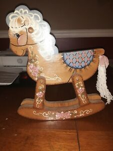 "Old Child's Doll Rocking Horse From The Late 50's To 60""s"