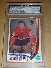 1969-70 O-Pee-Chee #138 TONY ESPOSITO PSA/DNA Authentic Autograph Rookie RC
