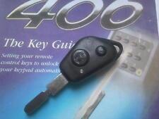 GENUINE PEUGEOT 406 ETC (PRI-RF&LED TYPE)+CODING 2BTN REMOTE ALARM UNCUT KEY FOB