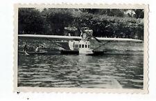 Foto um 1936 Wasser Flughafen Bodensee mit Wasserflugzeug