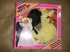 VINTAGE 1984 MERITUS WEDDING PARTY SET BRIDE & GROOM