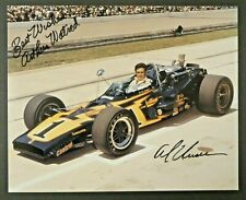 Al Unser Signed 8x10 Racing Photo