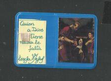 Image pieuse relique relic de Santa Teresa reliquia santino holy card