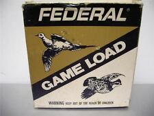 FEDERAL  Shot Shell Box EMPTY   12 gauge 8 Shot   Very Good   Condition