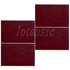 4pcs Red Pearl Square Guitar Bass Pickguard Material 3ply 43X29cm Body Project