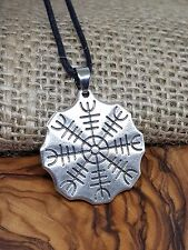 Viking Helm of Awe Magical Protection Stave Nordic Icelandic Compass Pendant