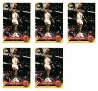 (5) 1992-93 Upper Deck McDonald's Basketball #P5 Michael Jordan Card Lot