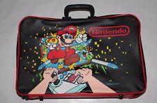 Vintage Super Mario Brothers Nintendo Luggage Suitcase Bag RARE 1988