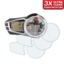 3 x Triumph Speed Triple 2011-2017 Dashboard Screen Protector: Ultra-Clear