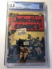 Detective Comics #105 CGC 2.5 Golden Age DC Comic Book! BATMAN! Batmobile! RARE!