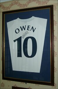 Michael Owen Signed & Framed England Shirt Liverpool Newcastle - 100% Genuine