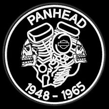 Panhead 1948-1965 Patch Aufnäher  Softail Biker Kutte  MC Scull Harley Chopper