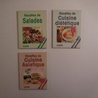 3 Folletos Receta Cuisine Ensalada Consejos Asiático 1988 Opeasi Suisse N3380