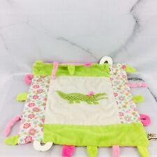 Maison Chic Green Alligator Baby Security Blanket Lovey Lovie Crocodile