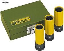 "Proxxon Impact 23938 - Set dadi fissaggio ruota, 1/2"", 3 pezzi: 17, 19, 21 mm"