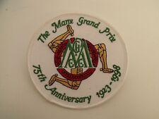 Vintage Manx Grand prix sew on badge patch  MGP Road Racing 75th anniversary IOM