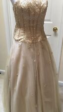 MY FASHION Champagne Ball Gown Size 2