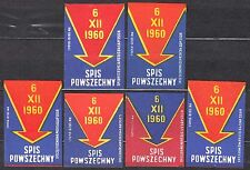 POLAND 1960 Matchbox Label - Cat.Z#213   6.XII.1960 Census.