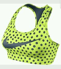 SALE!! NIKE Victory Compression Women's Bra 684670 702 Volt Dot - Small  and Lrg