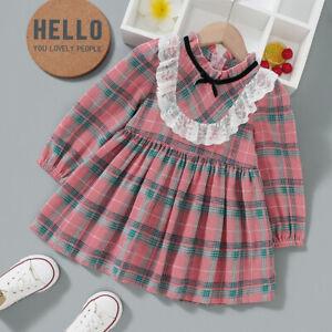 Sweet Vintage Plait Lace Long-sleeve PINK DRESS for Toddler Girl - MELB AUS