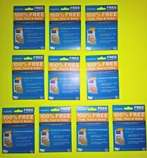 QTY 10 LOT FreedomPop Free Basic 200 Plan GSM 4G LTE 3-in-1 SIM Cards $50 Retail