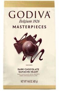 1 x Godiva Masterpieces Dark Chocolate Ganache Hearts 421g