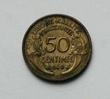 1940 FRANCE Morlon Coin - 50 Centimes - AU - toned-lustre