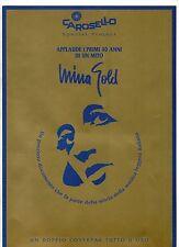 MINA CARTELLA STAMPA PROMO MINA GOLD + INSERTI made in ITALY