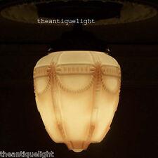 393 Vintage Antique 20's 30's Ceiling Light Lamp Fixture Glass Porch Hall