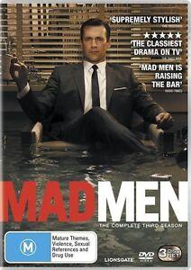 "Mad Men : Season 3 (DVD) Region 4 ""NEW AND SEALED"""