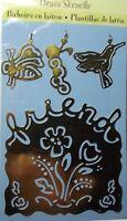 Plaid All Night Media Brass Embossing Stencil & Charms - Friend - 46770