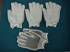 NWOT Men's Heavy Cotton Work Gloves w/ Knobbies XL Grey 4 Pair