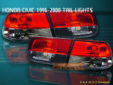 96-00 HONDA CIVIC TAIL LIGHTS RED/SMOKE 2DR COUPE 98 99