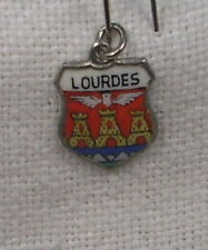 Vintage REU Sterling/Enamel Lourdes, France Coat of Arms Bracelet/Travel Charm