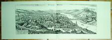 Würzburg: alte Ansicht Merian Druck Stich 1650
