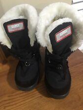 Khombu  Ladies Womens Winter Waterproof Black Boots Size sz 6M