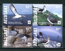 Aitutaki Cook Islands 2016 MNH Chatham Albatross WWF 4v Block Birds Stamps
