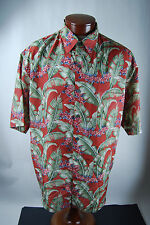 Summa Men's Silk Hawaiian Button Up Shirt - Large