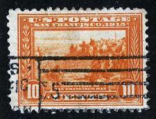 US Sc 400A Orange Yellow 10¢ Pan-Pac p.12 Slogan Cancel