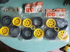 RC tires - Three Pair of Falcon Front Tires with Wheels, New, old stock