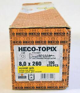 Heco-Topix Schrauben 8x260 Holzschrauben