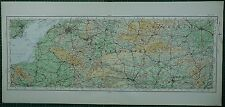 1922 LARGE MAP ~ WILTSHIRE HAMPSHIRE WINCHESTER BRISTOL BATH SOMERSET WELLS