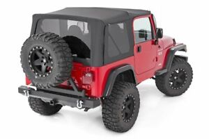 Rough Country Soft Top Black (fits) 1987-1995 Jeep Wrangler YJ | Half Doors