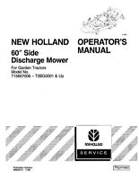 NEW HOLLAND Mower Deck for GT18 GT20 TRACTOR OPERATORS MANUAL